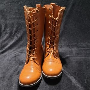 Chase + Chloe Shoes - NWOT lace up riding boots with gold embellishments